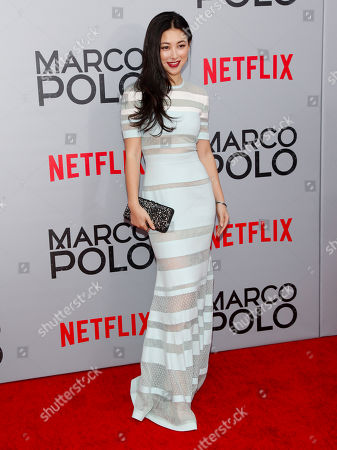 """Zhu Zhu attends the season premiere of the new Netflix series """"Marco Polo"""" at AMC Lincoln Square, in New York"""