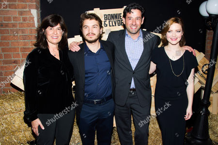 "Abbe Raven, Emile Hirsch, Rob Sharenow and Holliday Grainger attend the premiere party for A&E Networks' ""Bonnie and Clyde"" on in New York"