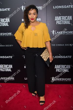 """Miriam Morales attends a special screening of """"American Pastoral"""" at the Museum of Modern Art, in New York"""