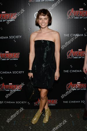 """Nanna Oh Land attends a special screening of Marvel's """"Avengers: Age of Ultron"""" at the SVA Theatre on Tuesday, April, 28, 2015, in New York"""