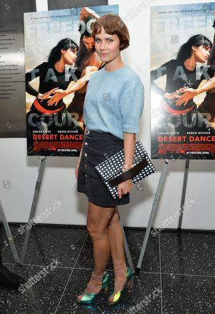 """Nanna Oland Fabricius aka Oh Land attends a special screening of """"Desert Dancer"""", hosted by The Cinema Society, at The Museum of Modern Art, in New York"""
