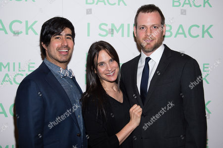 "Daniel Hammond, from left, Amy Koppelman and Adam Salky attend a special screening of ""I Smile Back"" at The Museum of Modern Art, in New York"