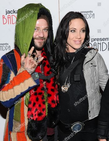 """Actor and daredevil Bam Margera and his girlfriend Nicole Boyd attend a special screening of """"Jackass Presents: Bad Grandpa"""" at the Sunshine Landmark Theater on in New York"""