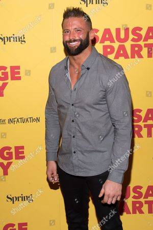 """Zack Ryder attend a screening of the animated film """"Sausage Party"""" at the Sunshine Landmark, in New York"""
