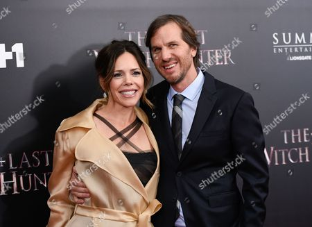 """Director Breck Eisner and wife Georgia Irwin attend a special screening of """"The Last Witch Hunter"""" at the Loews Lincoln Square, in New York"""