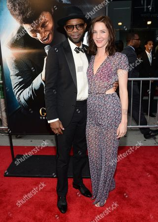 """Nelsan Ellis and Jessica Collins attend the world premiere of """"Get On Up"""" at the Apollo Theater, in New York"""