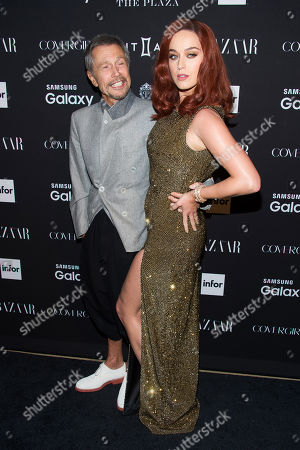 Jean-Paul Goude and Katy Perry attend the Harper's BAZAAR ICONS event during Fashion Week on in New York