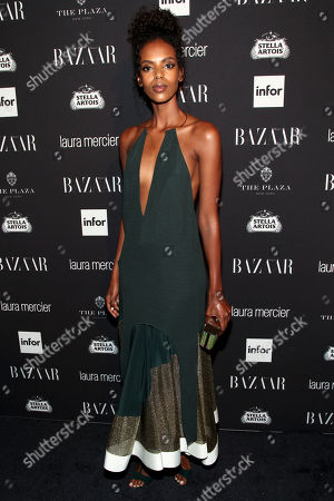 Fashion model Grace Mahary attends Harper's Bazaar Icons celebration during NYFW Spring/Summer 2017 at the Plaza Hotel, in New York