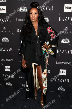 Stylist June Ambrose attends Harper's Bazaar Icons celebration during NYFW Spring/Summer 2017 at the Plaza Hotel, in New York