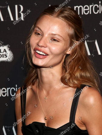 Fashion model Magdalena Frackowiak attends Harper's Bazaar Icons celebration during NYFW Spring/Summer 2017 at the Plaza Hotel, in New York
