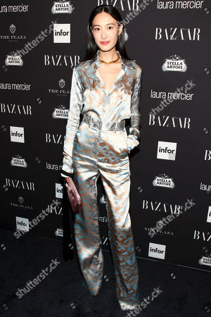 Fashion model Shu Pei attends Harper's Bazaar Icons celebration during NYFW Spring/Summer 2017 at the Plaza Hotel, in New York