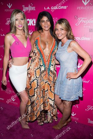 Brittany Fogarty, from left, Alicia DiMichele and Drita D'Avanzo attend OK! Magazine's So Sexy Party at Tao Downtown, in New York