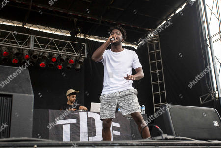 Isaiah Rashad performs during the ONE Musicfest at Aaron's Amphitheatre at Lakewood, in Atlanta
