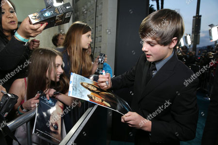 Stock Image of Chandler Canterbury at Open Road Films Los Angeles Premiere of 'The Host' held at the ArcLight Hollywood, on Tuesday, March, 19, 2013 in Los Angeles