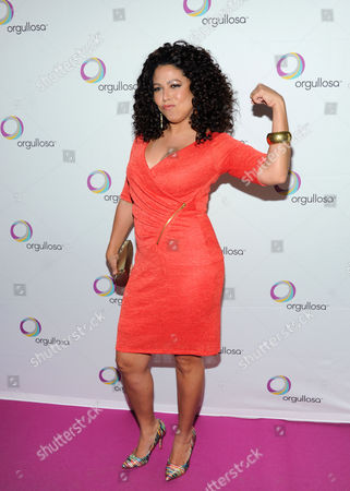"""Lifestyle guru and television personality Evette Rios attends the P&G Orgullosa """"Skirts Only"""" fashion show on in New York"""