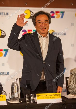 Professor Toru Iwatani, PAC-MAN lead creator, seen at the PAC-MAN's Official 35th Birthday Celebration at LEVEL 257 on in Schaumburg, IL