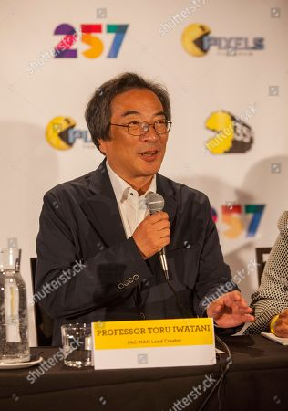 Professor Toru Iwatani, PAC-MAN lead creator, seen at the PAC-MANâ?™S Official 35th Birthday Celebration at LEVEL 257 on in Schaumburg, IL