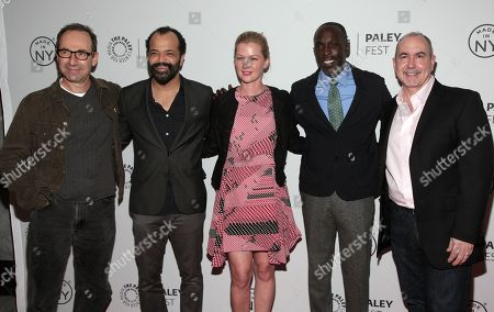 """From left, writer Howard Korder, actors Jeffrey Wright, Gretchen Mol, Michael Kenneth Williams, and Executive Producer Terrence Winter attend a screening of """"Boardwalk Empire"""" at PaleyFest: Made In NY on in New York"""