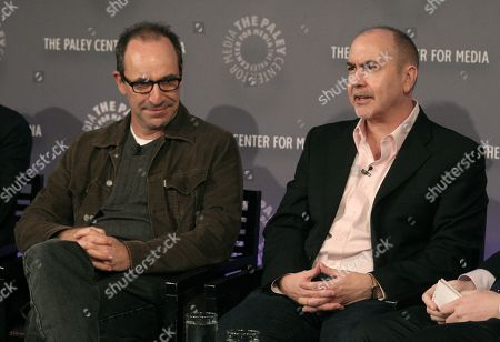 """Stock Photo of Writer Howard Korder, left, and Executive Producer Terrence Winter, right, attend a screening of """"Boardwalk Empire"""" at PaleyFest: Made In NY on in New York"""