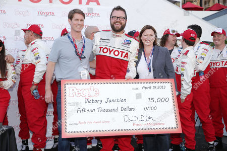 People Magazine's David Geithner, Rutledge Wood and People Magazine's Ellie Duque at People Magazine Presentation of The PEOPLE Pole Award at the 2013 Toyota Grand Prix of Long Beach, on Friday, April, 19th, 2013 in Long Beach, Calif
