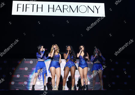 Ally Brooke Hernandez, Normani Kordei, Lauren Jauregui, Camila Cabello and Dinah Jane Hansen with Fifth Harmony performs during the Power 96.1 Jingle Ball at Philips Arena, in Atlanta