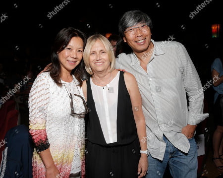 """Michelle Chan, executive producer Janet Zucker and Patrick Soon-Shiong arrive on the red carpet at the premiere of """"Dear Dumb Diary"""" at the Crest Theater on in Los Angeles"""