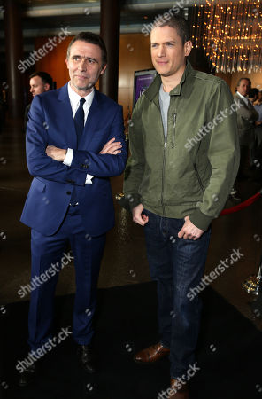 """Stock Image of Director Erik Van Looy and Wentworth Miller seen at the Premiere of """"The Loft"""" Featuring Ketel One Vodka, in Los Angeles"""