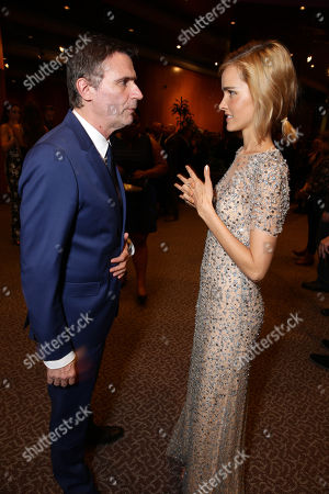 """Stock Picture of Director Erik Van Looy and Isabel Lucas seen at the Premiere of """"The Loft"""" Featuring Ketel One Vodka, in Los Angeles"""