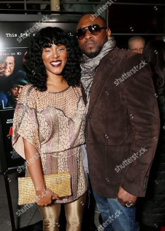 """Keisha Epps and Omar Epps attend the premiere of """"A Haunted House"""" at the Arclight Hollywood, in Los Angeles"""