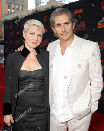 Michael Imperioli (R) and wife Victoria Imperioli attend the premiere of Pantelion Film's 'Cantinflas' at TCL Chinese Theatre on in Los Angeles