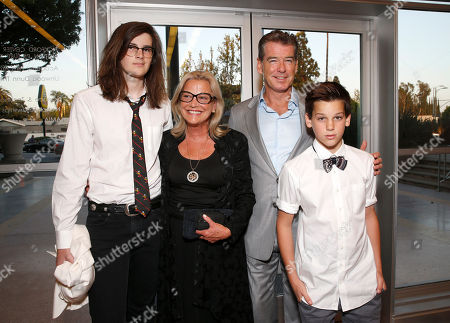 """Dylan Brosnan, Sharon Rose Smith, Pierce Brosnan and Paris Brosnan attend the premiere Of Sony Picture Classics' """"Love Is All You Need"""", on Thursday, April, 25, 2013 in Hollywood, California"""