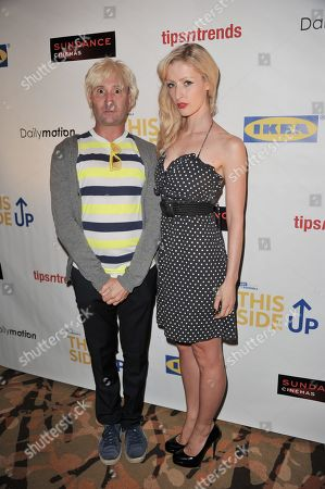 """Stock Image of Michael Irpino, left, and Hannah Cowley attend Easy to Assemble's premiere of """"This Side Up"""" at Sundance Sunset Cinemas, in Los Angeles"""