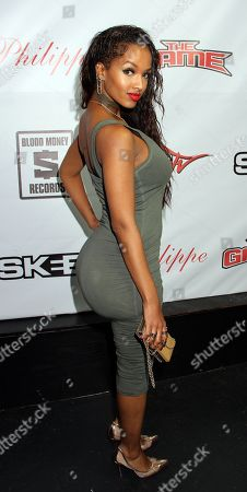 Recording artist LoLa Monroe attends the Private Black Friday Birthday Dinner for The Game at Philippe on in Beverly Hills, California