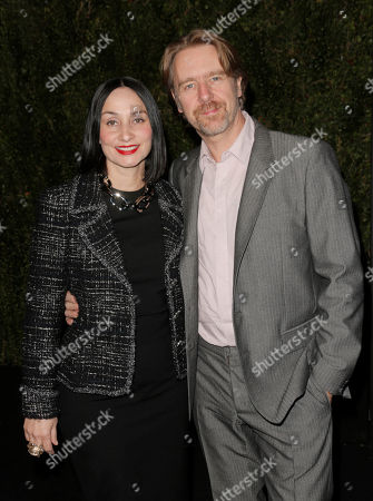 Rose Apodaca and Andy Griffith arrive at the Chanel Dinner celebrating the release of Drew Barrymore's new book 'Find It In Everything' at Chanel Boutique on in Beverly Hills, California