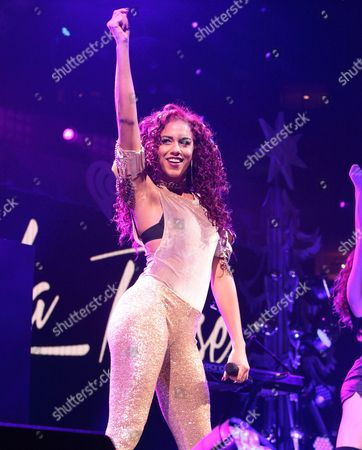 Natalie La Rose performs in concert during Q102's iHeartRadio Jingle Ball 2015 at the Wells Fargo Center, in Philadelphia