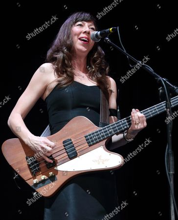Nikki Monninger of Silversun Pickups performs in concert during night 2 of the Radio 104.5 9th Birthday Show at BB&T Pavilion, in Camden, N.J