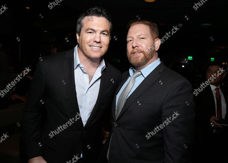 "Tucker Tooley, President of Relativity Media and Ryan Kavanaugh, Chief Executive Officer of Relativity seen at Relativity Studios Los Angeles Premiere of ""Black or White"" held at Regal Cinemas, in Los Angeles"