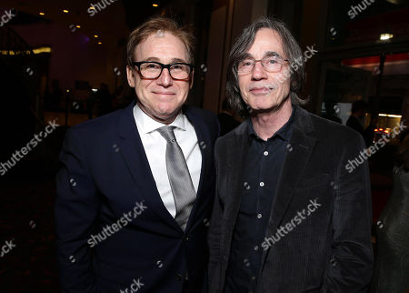 """Stock Picture of Director/Writer Mike Binder and Jackson Browne seen at Relativity Studios Los Angeles Premiere of """"Black or White"""" held at Regal Cinemas, in Los Angeles"""