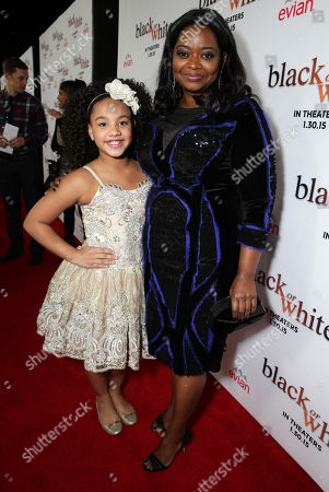 "Jillian Estell and Octavia Spencer seen at Relativity Studios Los Angeles Premiere of ""Black or White"" held at Regal Cinemas, in Los Angeles"