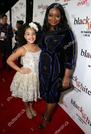 "Stock Image of Jillian Estell and Octavia Spencer seen at Relativity Studios Los Angeles Premiere of ""Black or White"" held at Regal Cinemas, in Los Angeles"