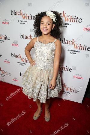 """Jillian Estell seen at Relativity Studios Los Angeles Premiere of """"Black or White"""" held at Regal Cinemas, in Los Angeles"""