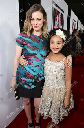 "Stock Photo of Gillian Jacobs and Jillian Estell seen at Relativity Studios Los Angeles Premiere of ""Black or White"" held at Regal Cinemas, in Los Angeles"
