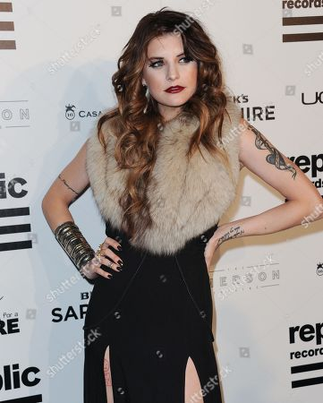 Juliet Simms arrives at Republic Records Post Grammy Party at The Emerson Theatre on in Los Angeles