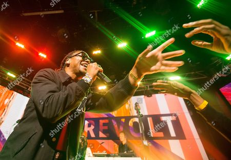 """Lupe Fiasco performs """"Adoration of the Magi"""" for the first time on Television at REVOLT Live on Tuesday, January 27th, 2015, in Hollywood, CA. REVOLT Live kicks off season two with special anniversary show featuring performances, breaking news and the artist you love"""