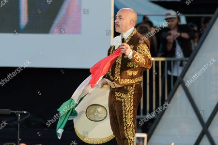 Lupillo Rivera performs at RiseUp As One at Cross Border Xpress, in San Diego