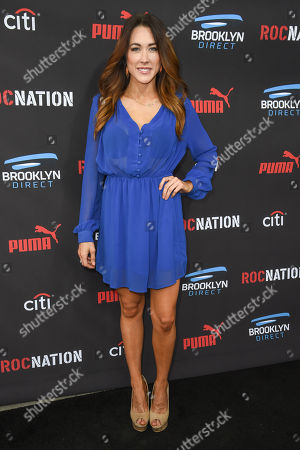 Stock Photo of Erin Coscarelli arrives at the Roc Nation Pre-Grammy Brunch at RocNation Offices, in Beverly Hills, Calif