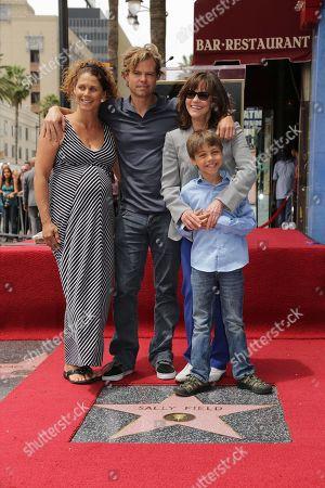 Sasha Craig, Eli Craig, Noah Craig and Sally Field seen at Sally Field Star on the Hollywood Walk of Fame, in Los Angeles, CA