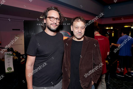 """Director/Writer/Producer Fede Alvarez and Producer Sam Raimi seen at Screen Gems """"Don't Breathe"""" Screening at 2016 Comic-Con, in San Diego, Calif"""