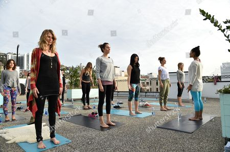 Stock Photo of Angela Lindvall, from left, Louise Roe, SELF Editor-in-Chief Joyce Chang, Maria Menounos, Lexi Atkins, and Briohny Smith attend SELF: Get #UPnOUT at Palihouse, in West Hollywood, Calif
