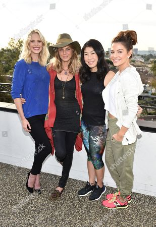 Anne Vyalitsyna, from left, Angela Lindvall, SELF Editor-in-Chief Joyce Chang, and Maria Menounos attend SELF: Get #UPnOUT at Palihouse, in West Hollywood, Calif